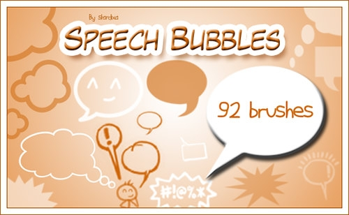speech_bubbles_brushes for photoshop