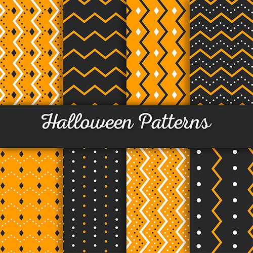 stripped and dotted halloween patterns