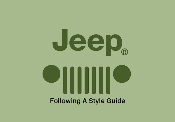 stylish jeep logo design