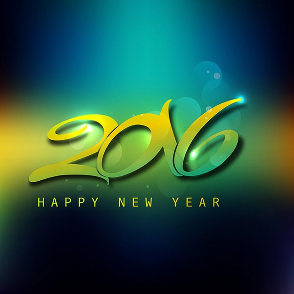 stylish new year greeting card background