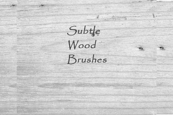 subtle wood brushes