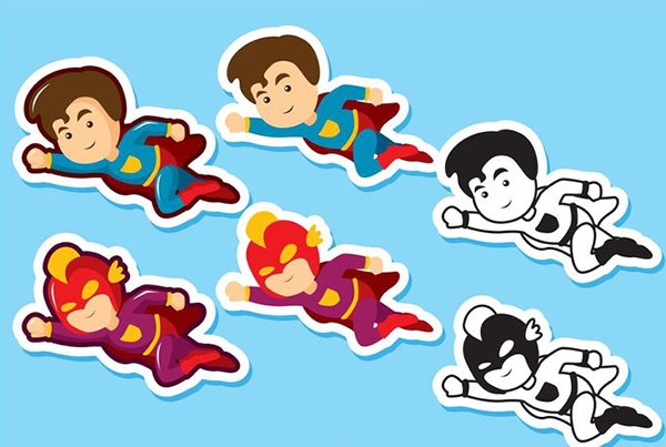 superhero-kid-vectors-pack