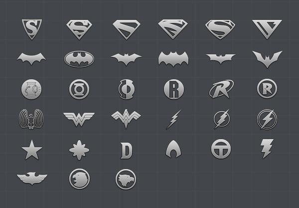 superheroLogos icons