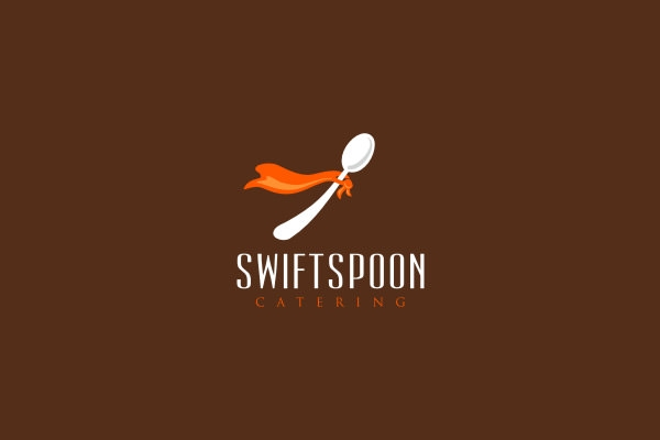 swift spoon logo design