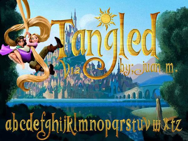 tangled-v1.2 font