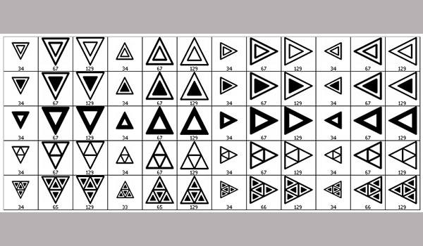 triangular photoshop brushes