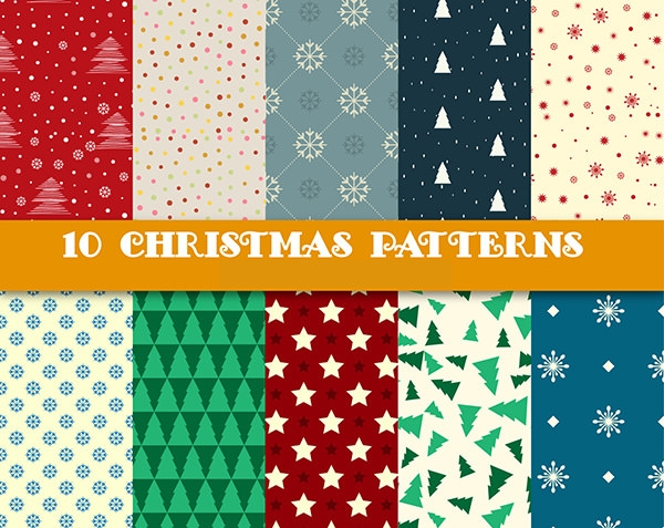 various kind of christmas patterns