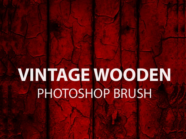 vintage wooden photoshop brushes