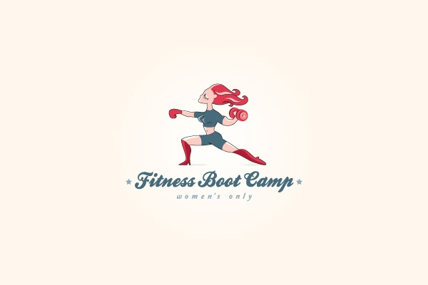 woman only fitness boot camp logo design
