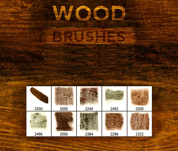 120 Free Photoshop Wood Brushes Freecreatives