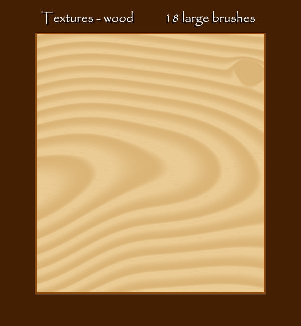 wood textured brushes
