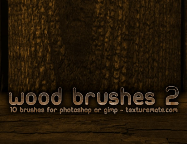 wooden grunge brushes pack