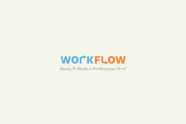 work flow logo design