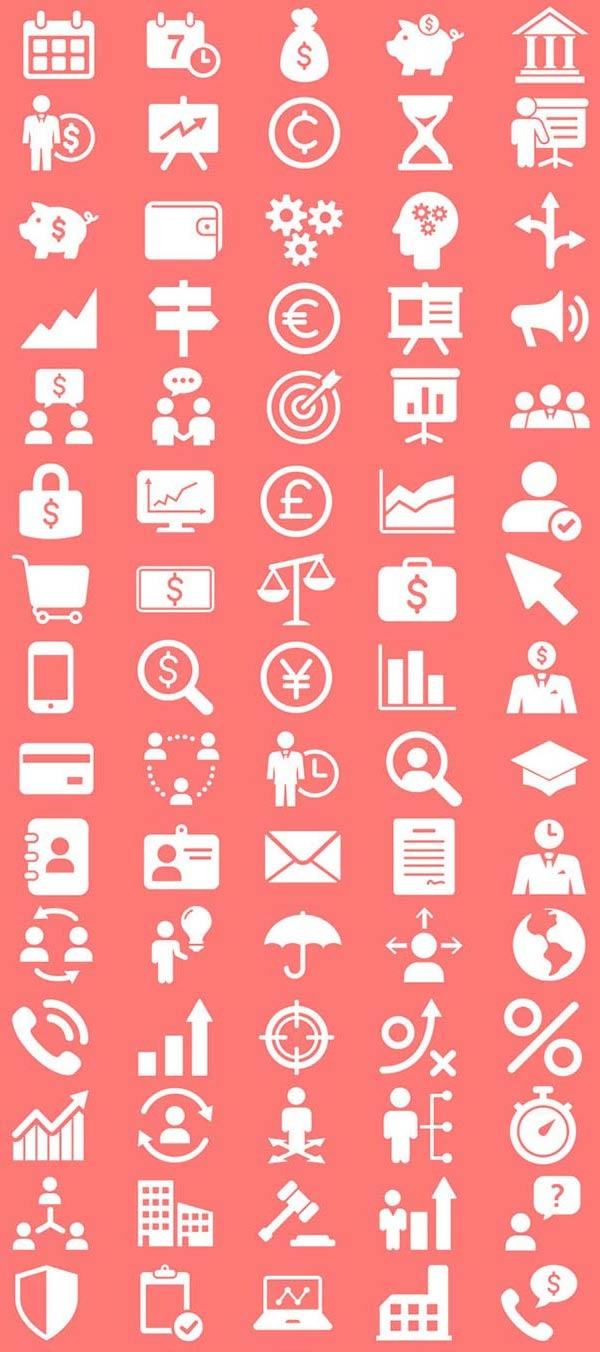 100-free-finance-icons-set
