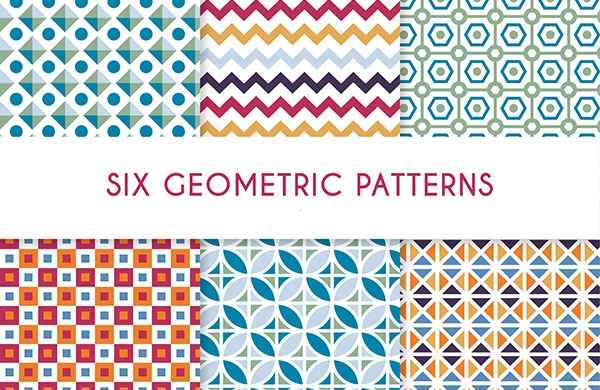 6 Colorful Geometric Patterns