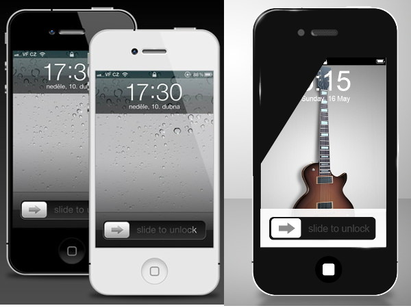Apple iphone 4 mockup psd