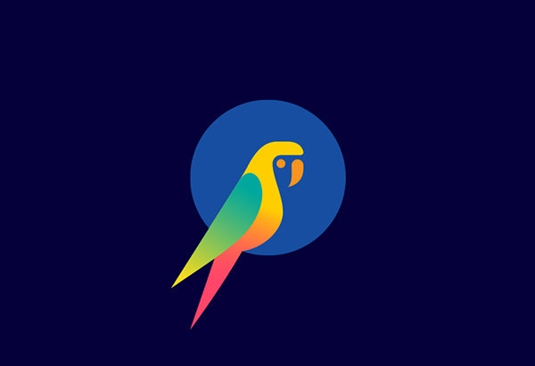 Beautiful Parrot Logo Design