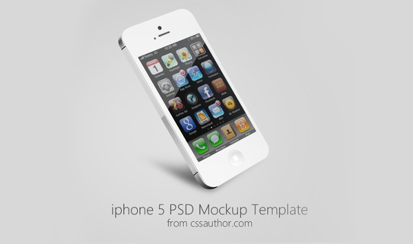 Beautiful iPhone 5 Mockup PSD Template for Free Download