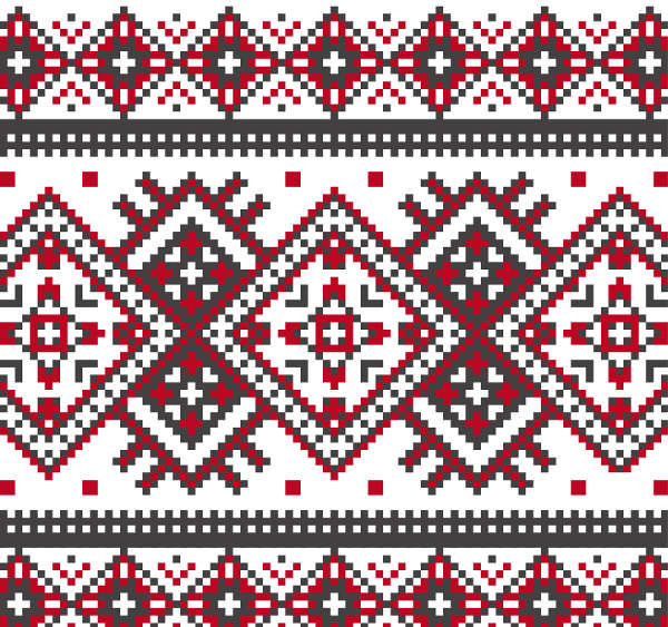 Beautifully Knitted Seamless Christmas Pattern