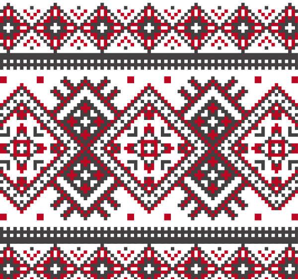 Beautifully Knitted Seamless Christmas Pattern