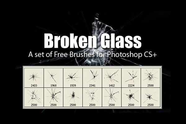 Broken Glass Brushes Pack