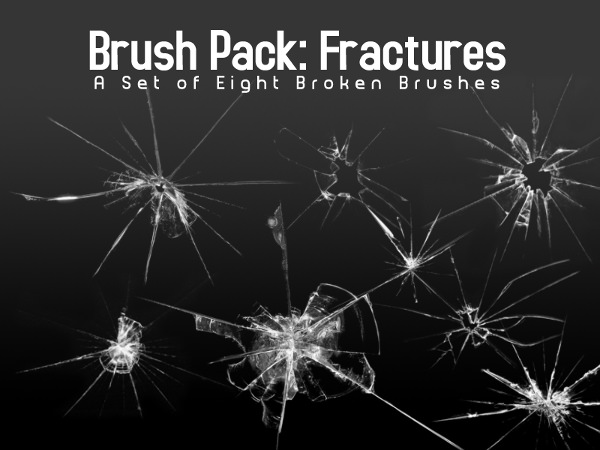 Broken Glass Brushes for Photoshop