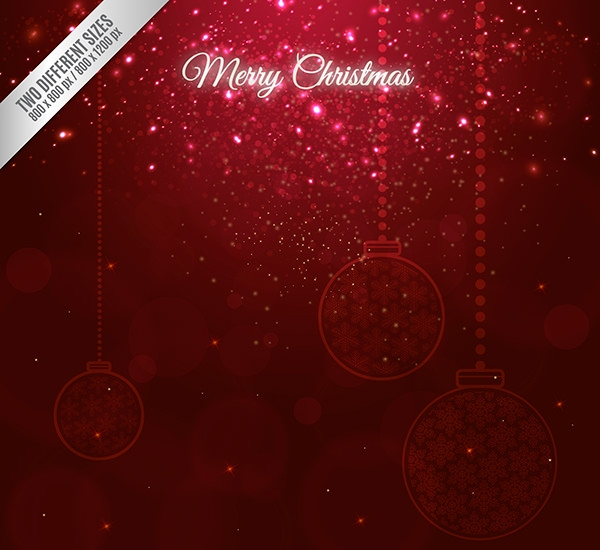 Christmas Background with Sparkles