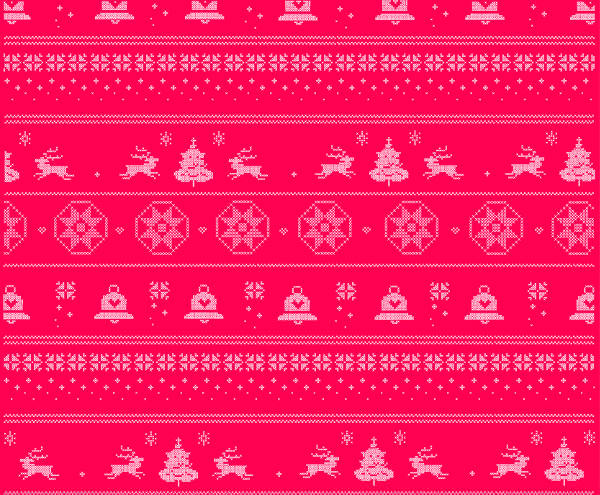Christmas Knitted Pattern Free Vector