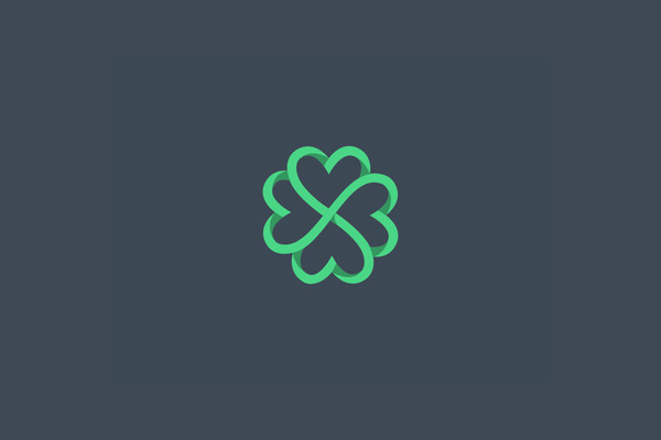 Clover Hearts Logo Design