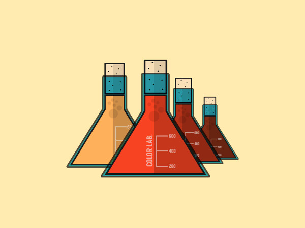 Color lab Flask Logo Design