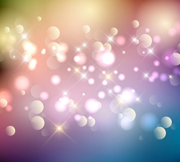 Colorful Bokeh Background in Sparkle Style