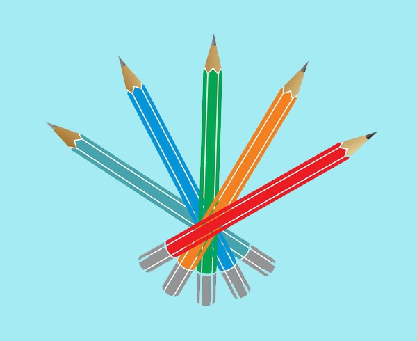 Colorful Pencil Vector Illustration