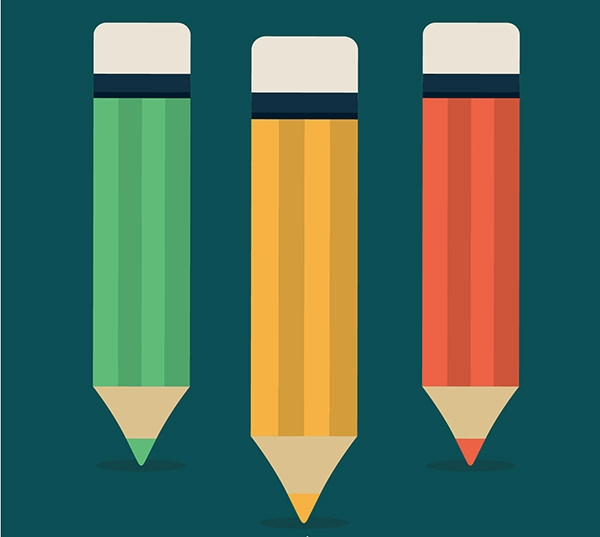 Colorful Pencils Free Vector