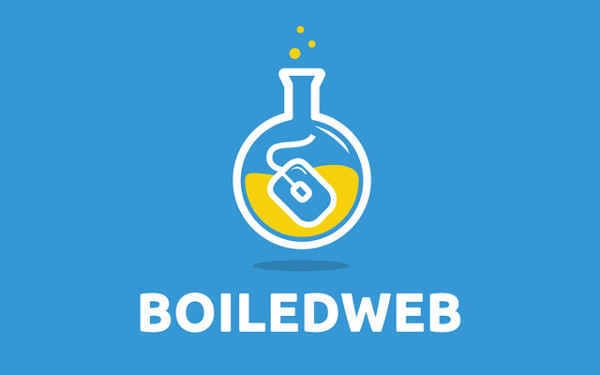 Creative Brand Typography concept Boiled logo design