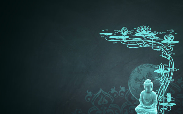 Creative Worship Buddha Wallpaper