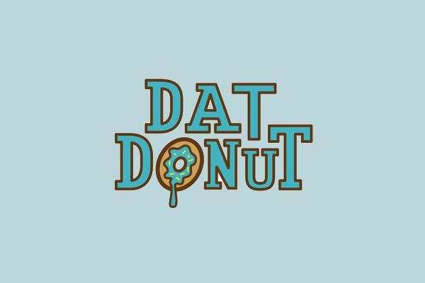 dat donut logo design