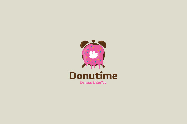 Donut Time Logo Design