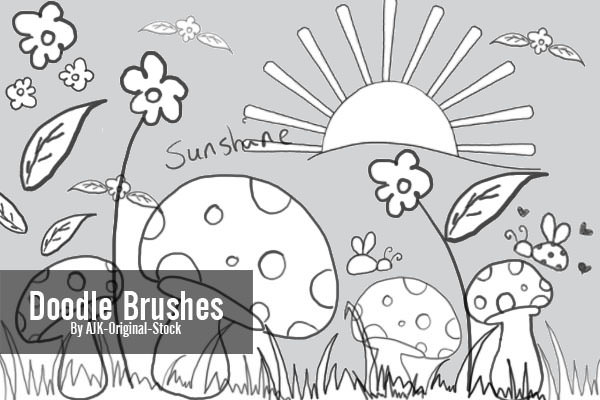 doodle brushes pack for photoshop