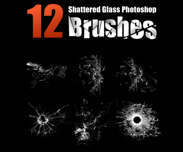 Download Shattered Glass Photoshop Brushes