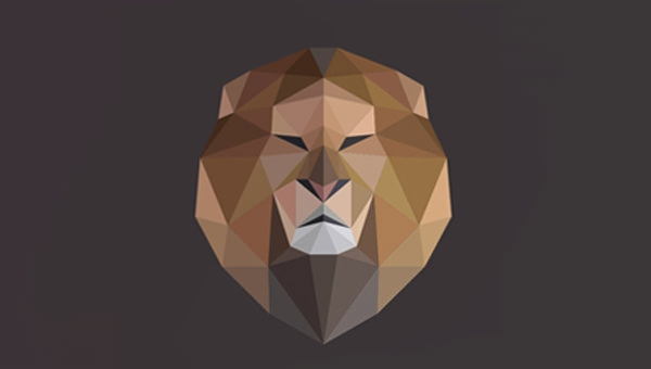 Elegant-Low-Poly-Lion-Logo-Design