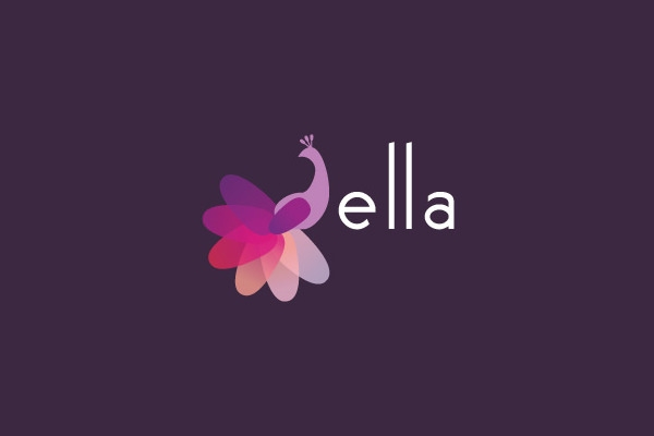 Ella-Peacock-Logo-Design