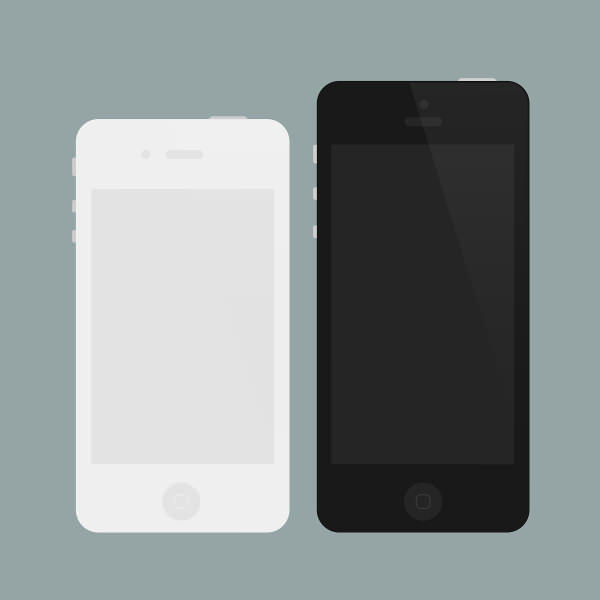 Flat iPhone 4 Mockup PSD