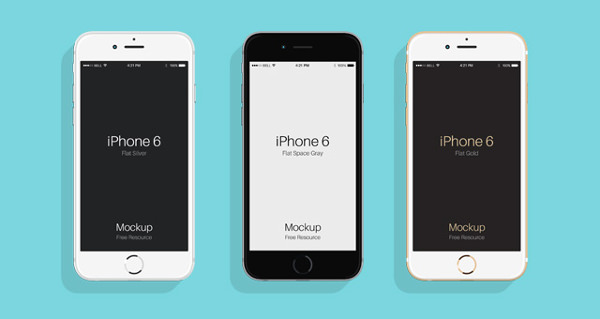 Flat iPhone 6 and 6S Mockups