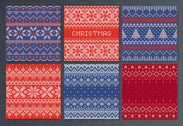 Free Christmas Knitted Seamless Patterns