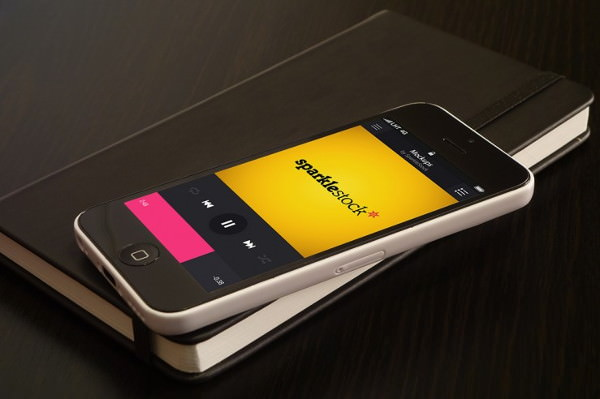 Free Downloadable Photorealistic iPhone 5c mockups set