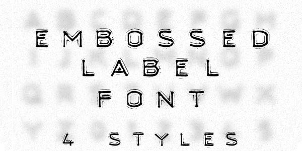 Free Emboss label font