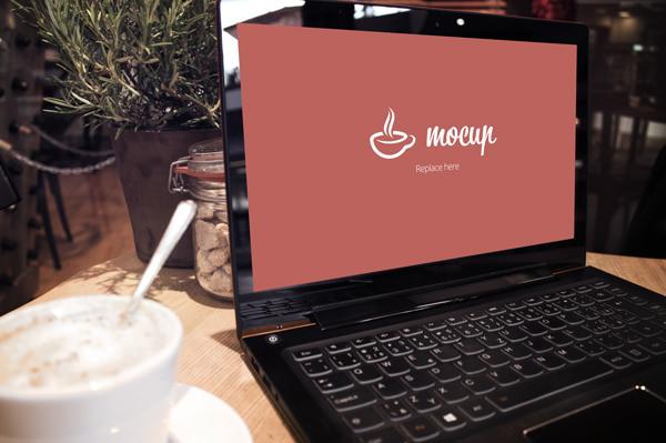 Free Lenovo Notebook Mockup