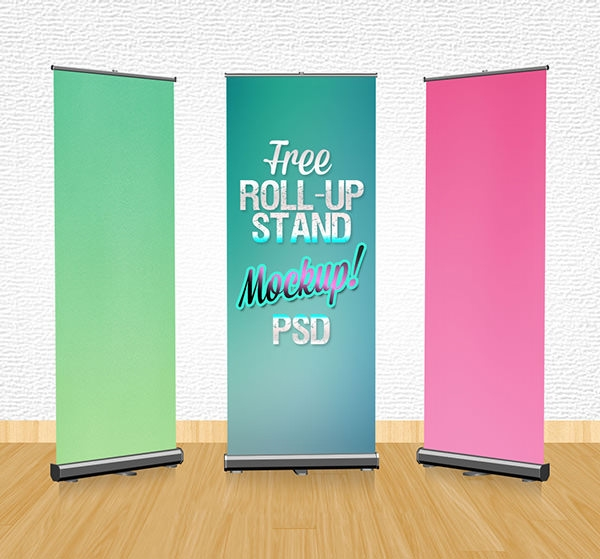 Free-Outdoor-Trade-Roll-up-Banner-Stand-Mockup-PSD