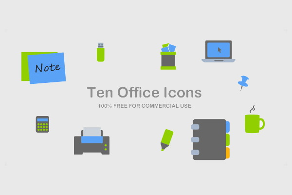 Free PSD Office Icons