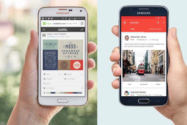 Free PSD Photorealistic Samsung Mobile mockups